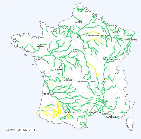 Image d'illustration pour Niveaux des cours d'eau : en amélioration