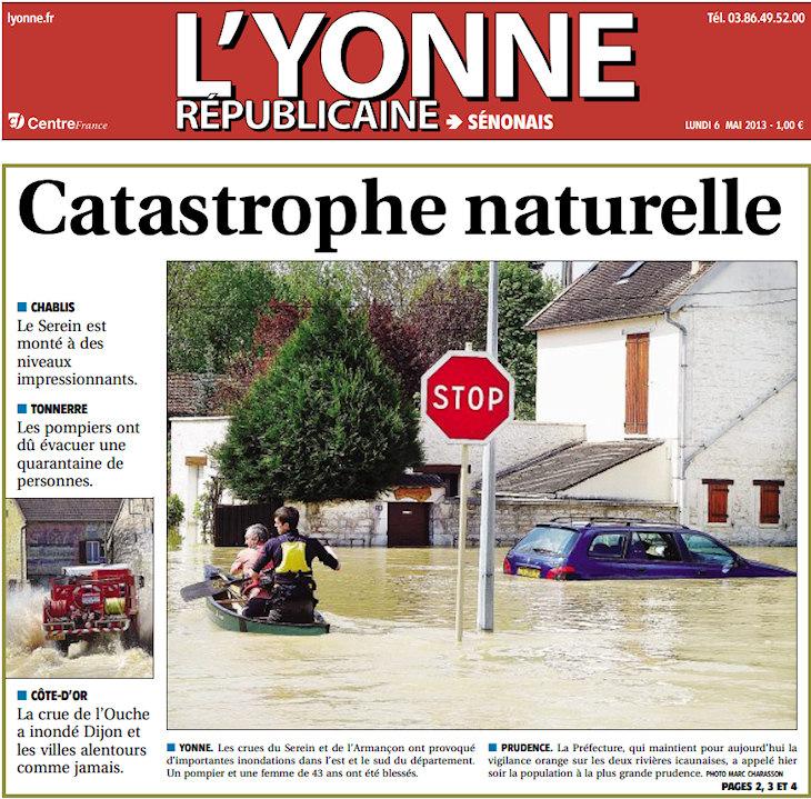 Image d'illustration pour Ouche, Armançon, Serein, Marne : Le point sur les crues
