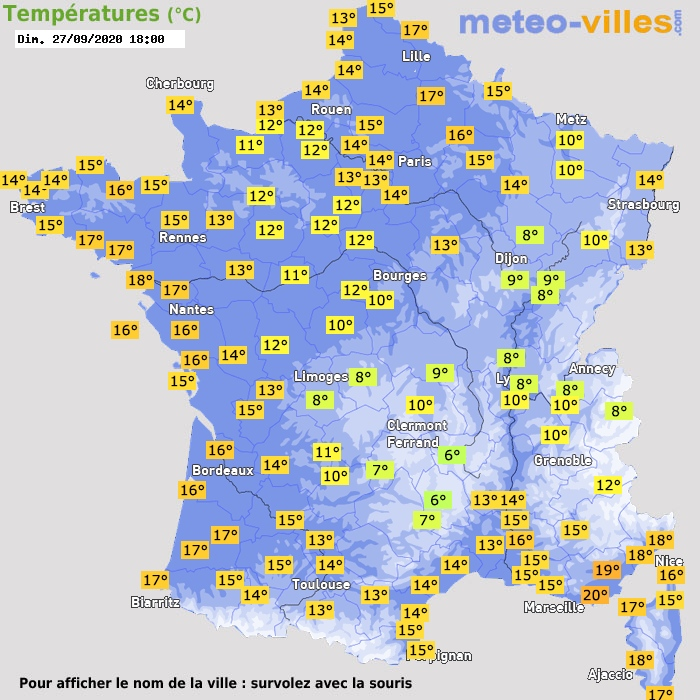 Image d'illustration pour Premier assaut brutal de l'automne sur la France